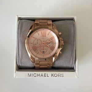 Michael Kors Rose Gold Bradshaw Watch